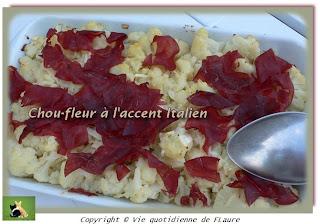 Vie quotidienne de FLaure: Chou-fleur à l'accent Italien