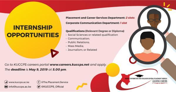 Internship opportunities KUCCPS 2019