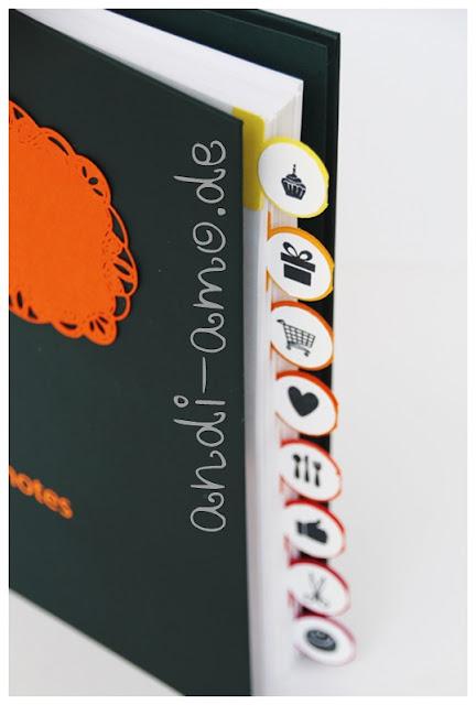 Register für Notizbuch selbstgemacht andi-amo