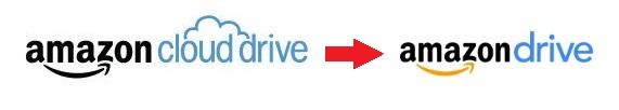 AmazonクラウドドライブとAmazonドライブのロゴ