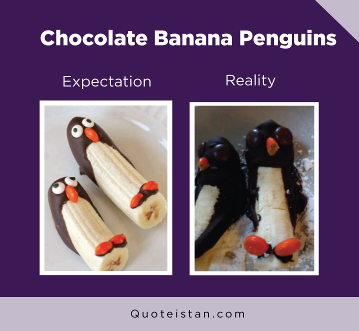 Expectation vs Reality: Chocolate Banana Penguins