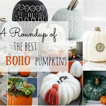 The Best DIY Boho Pumpkin Roundup!