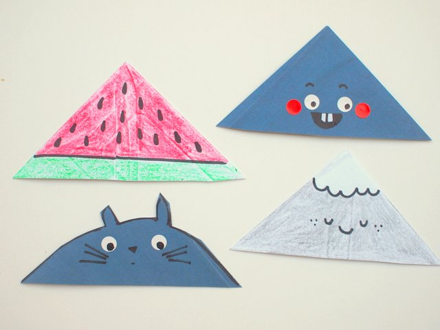 Corner Envelope Bookmarks- Super Easy Kids Craft