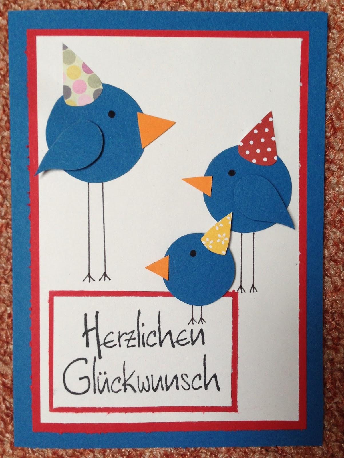 Mein Kreativblog Vogel Geburtstagskarte