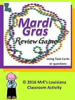 https://www.teacherspayteachers.com/Product/LOUISIANA-and-a-Mardi-Gras-Review-Game-2557055