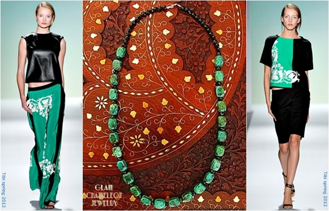 Glam Chameleon handmade jewelry turquoise necklace