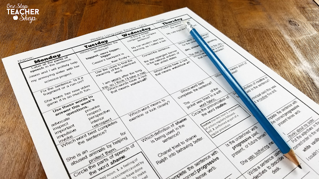 Grammar practice is hard to find time for in a busy teacher's classroom. Here are tips for including daily grammar review every day.