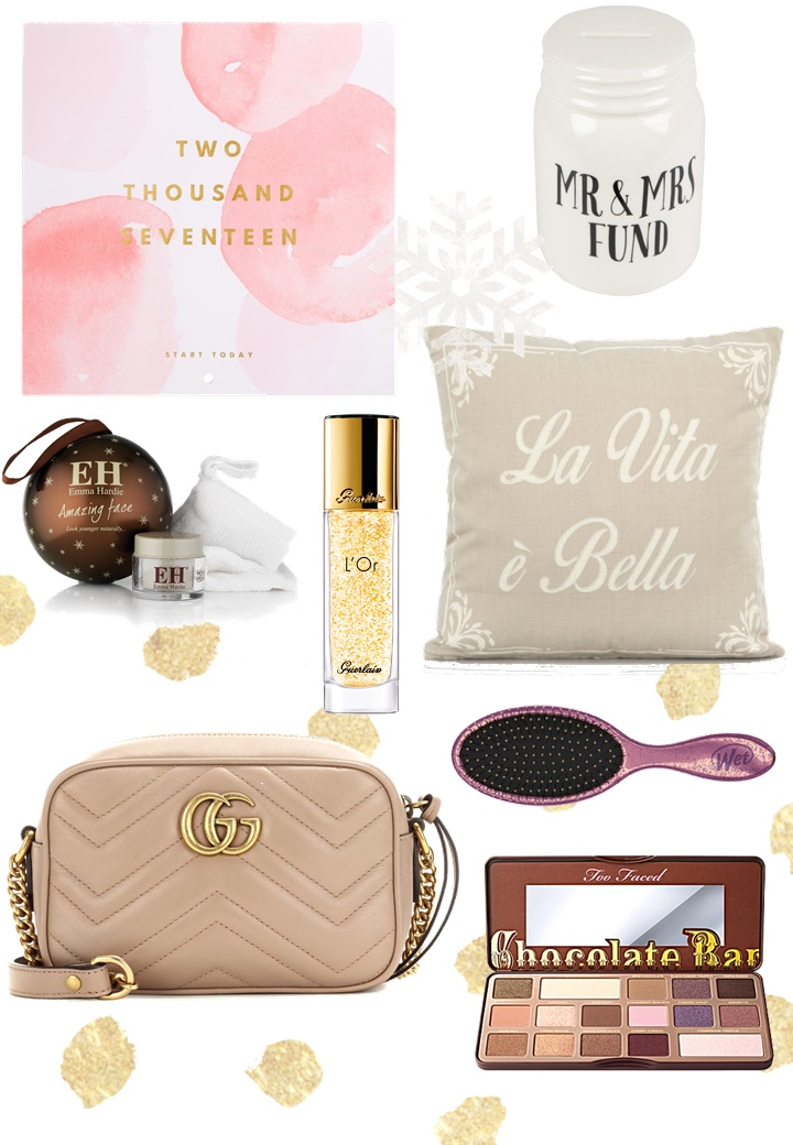 christmas wishlist, too faced, gucci, emma hardie, stocking fillers, guerlain