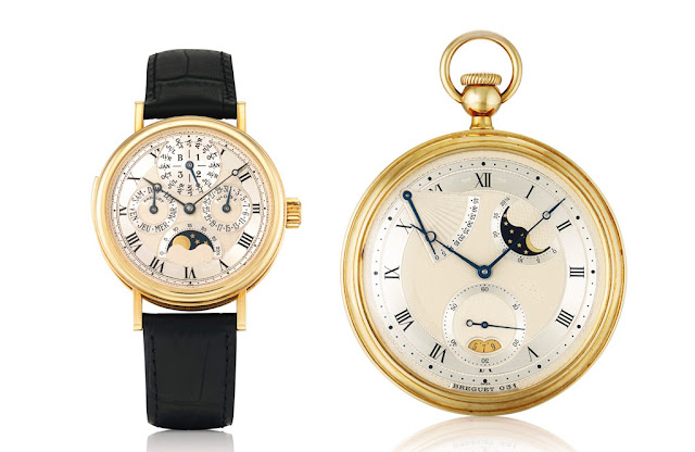 Breguet: wristwatch and pocket watch set dating back to 1995