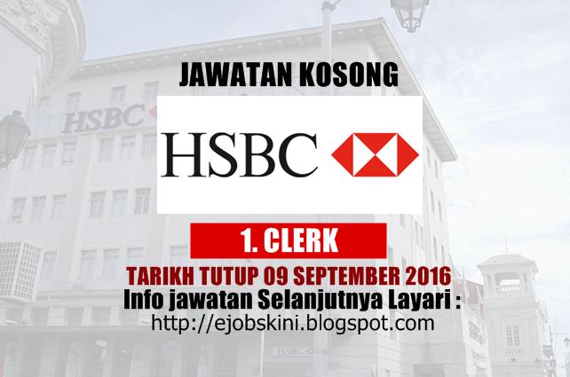 Jawatan Kosong HSBC Bank Malaysia Berhad September 2016