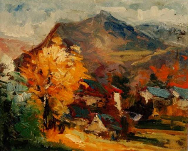 Emiliano García Tur pintura óleo paisaje Catalunya