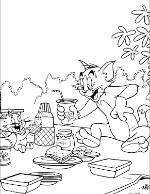 Cartoons Coloring Pages: Tom and Jerry Coloring Pages