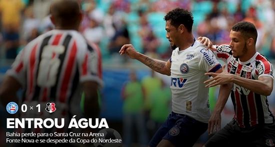Bahia perde para o Santa Cruz