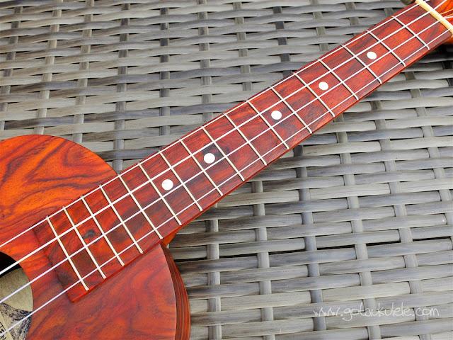 Cocobolo tenor ukulele neck