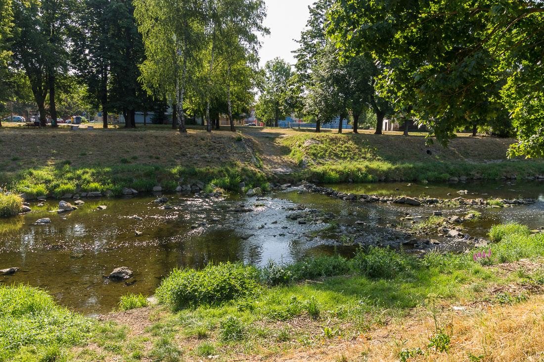 Река Любина в Пршиборе