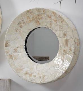 Espejo Madre Perla Rust 60 D Asina