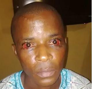 police beat man