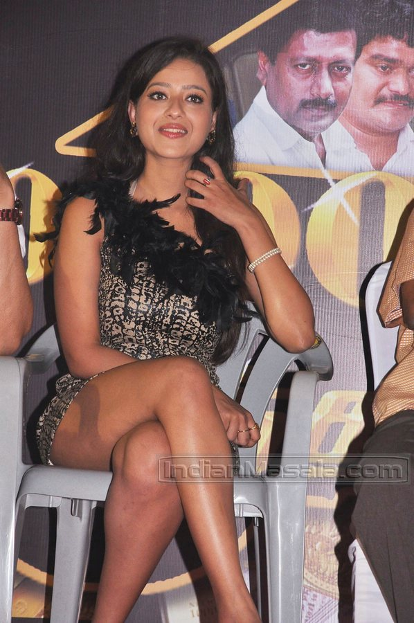 Madalasa Sharma Hot Thigh Show At A Tamil Movie Audio Function-1157