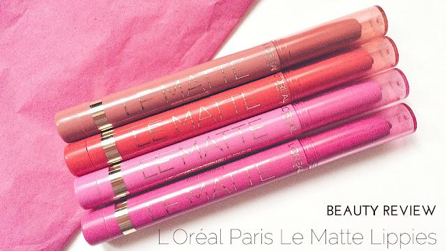 L'Oréal Paris Le Matte Lippies Haul Review