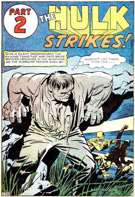 Incredible Hulk v1 #1 marvel comic book page art by Jack Kirby
