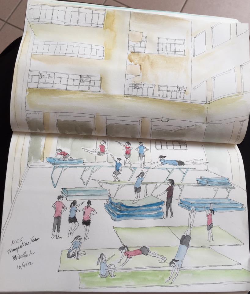 Urban Sketchers Hong Kong: Sketching at Maryknoll Convent