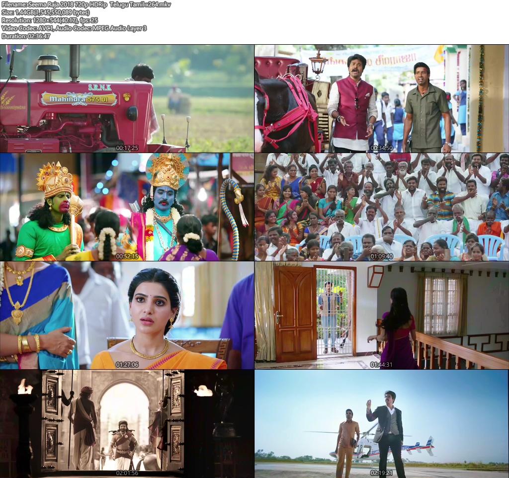 Seema Raja 2018 720p HDRip Telugu Tamil x264   480p 300MB   100MB HEVC Screenshot