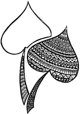 Leaf Shape Mandala painting