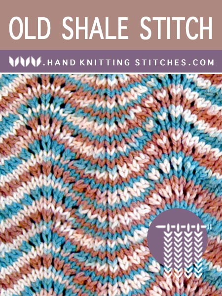 Hand Knitting Patterns - Old Shale Lace Pattern
