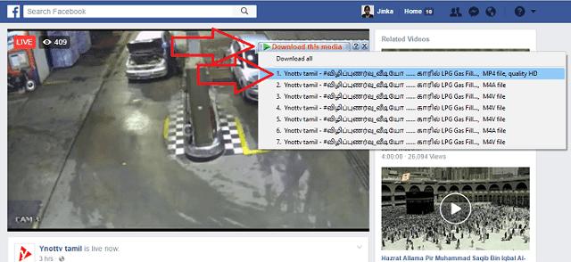 klik ikon idm di pojok kanan atas video untuk mengunduh video