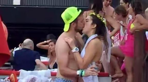(Photos)Wedding is cancelled after bride is filmed passionately kissing  a stranger