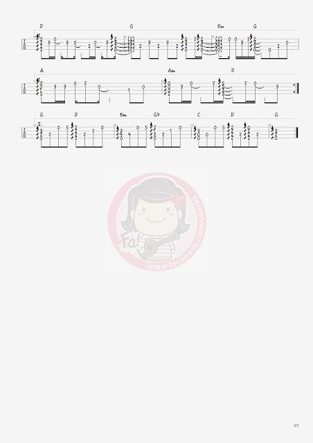 周杰倫:等你下課 ukulele solo譜3