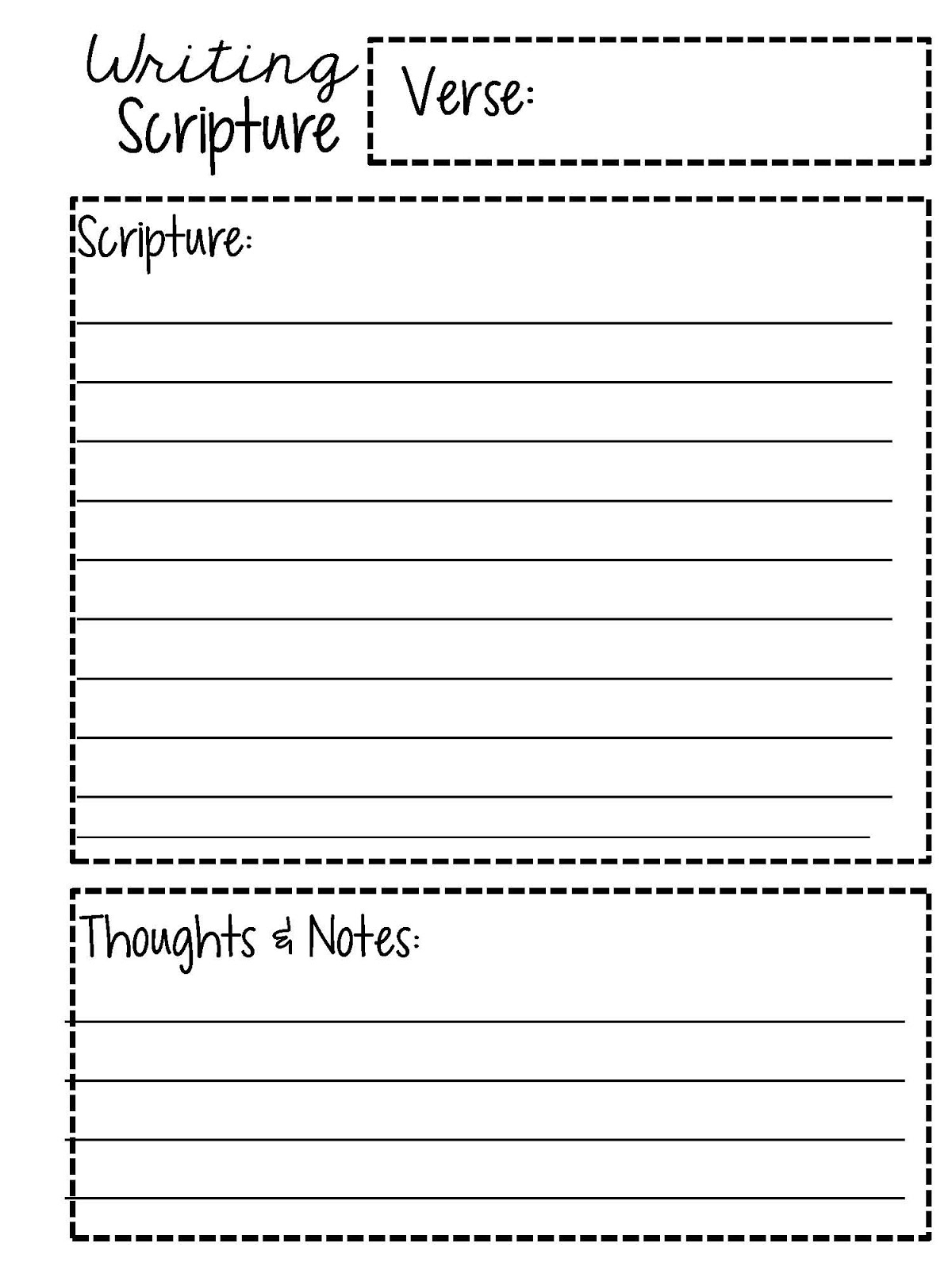 Sweet Blessings March Scripture Writing Plan