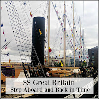 SS Great Britain Flags and Chimneys