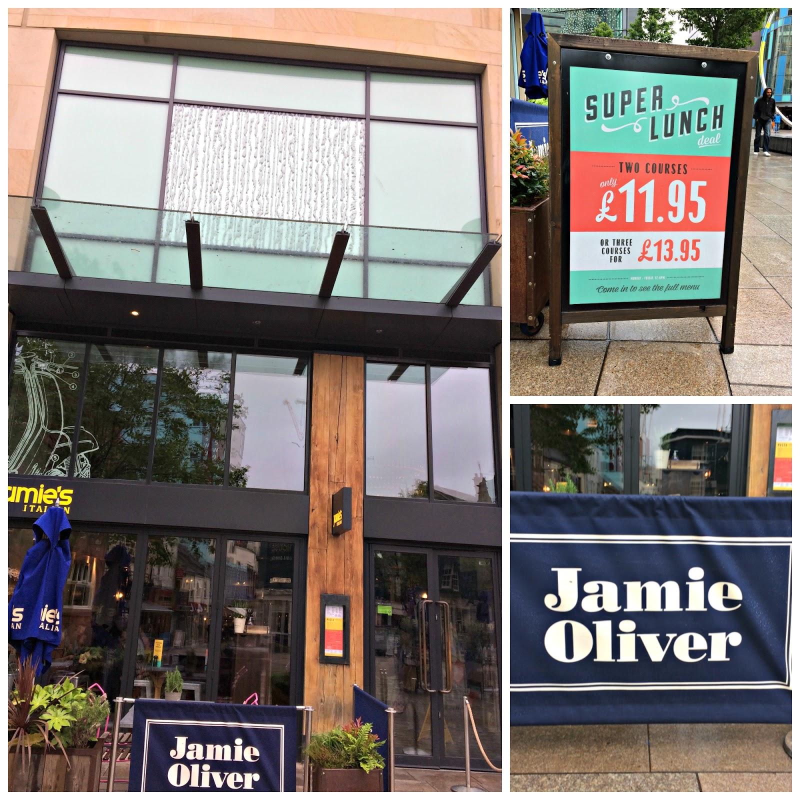 Exterior of Jamie's Italian Restaurant Cardiff