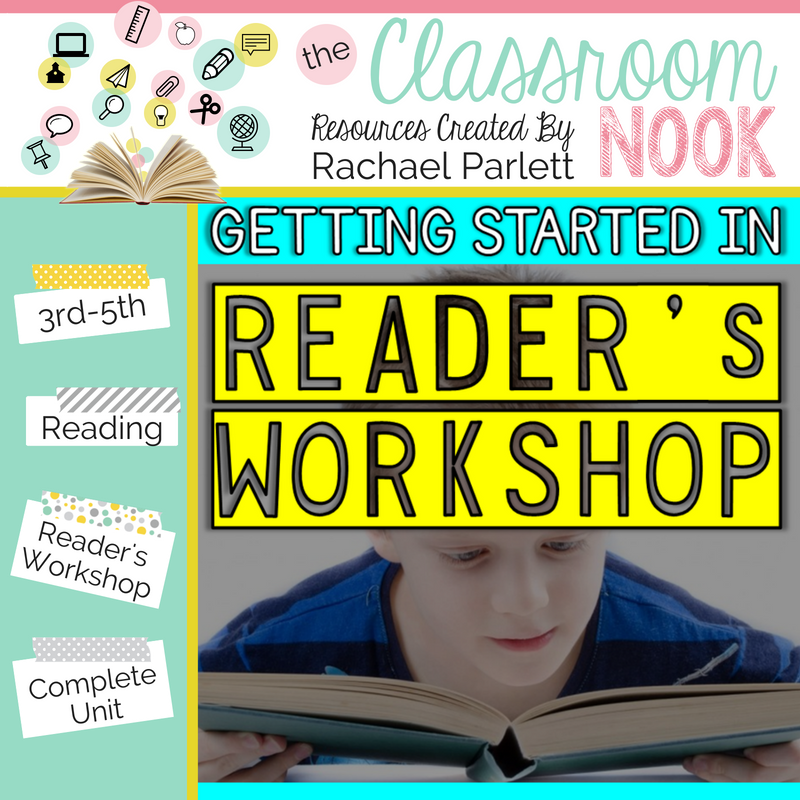 Need an entire unit on teaching reader's workshop?  Check out this teacher guide for implementing the reader's workshop model in your classroom!