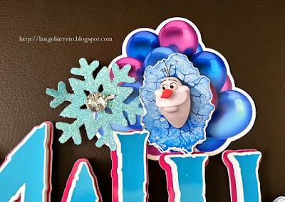Topo para bolo Frozen