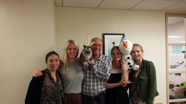 Even the Visit Norway team based in New York is getting into the 'Frozen' spirit! Photo: Innovation Norway.
