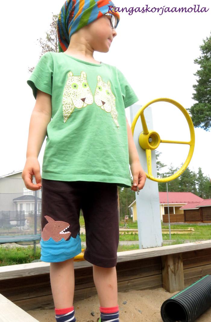 Shortsien ompelu