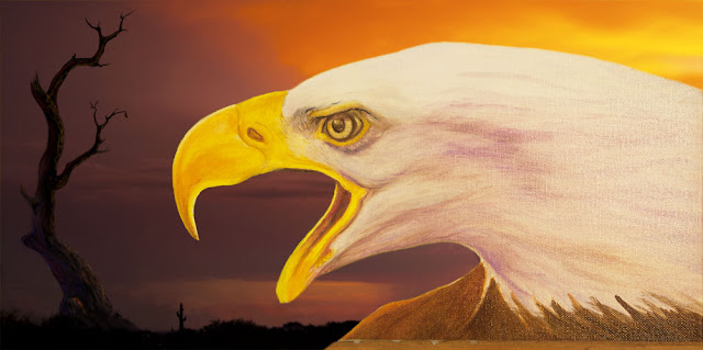 Eagle Painting Preview - Copyright 2018 - Jephyr - All Rights Reserved