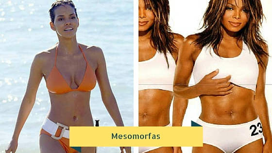 Mujeres con cuerpo mesomorfo.