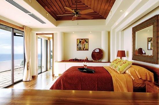 Dormitorio con una clara inspiración Feng Shui