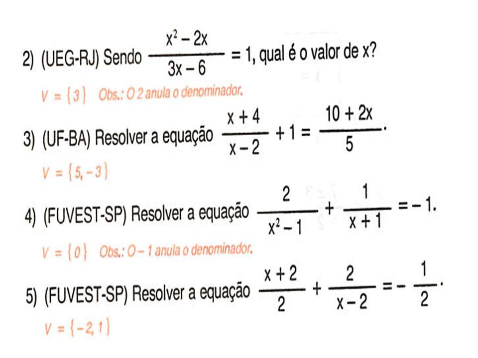 Resultado de imagem para equaçoes fracionarias