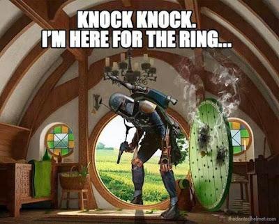 Meme de humor sobre Star Wars y El señor de los anillos