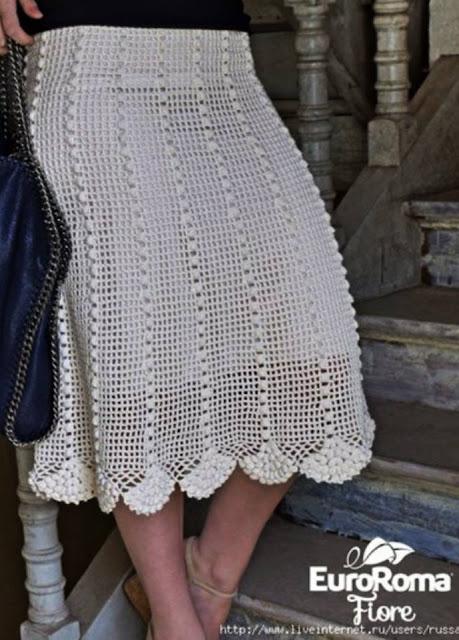 Patrón #1850: Como Hacer Falda a Crochet