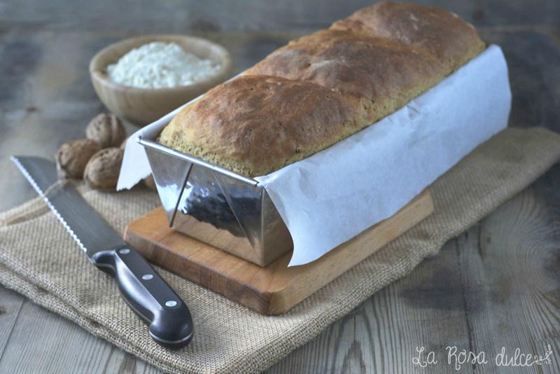 Pan de molde con nueces y harina Tritordeum