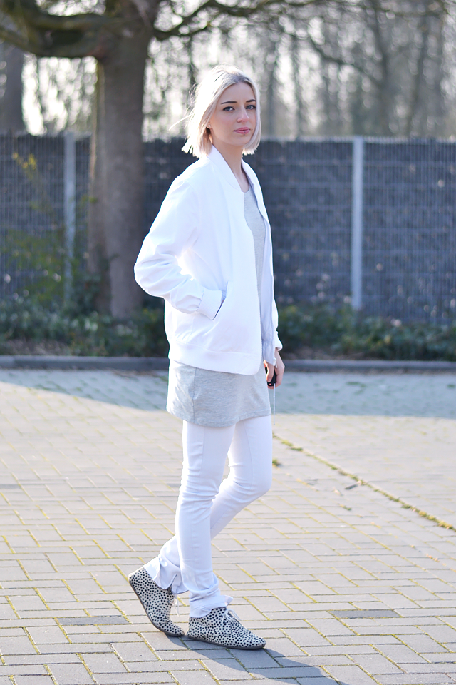 All white, outfit, maruti footwear, bomber jacket, white, asos, skinny, jeans, spring summer trends, 2015