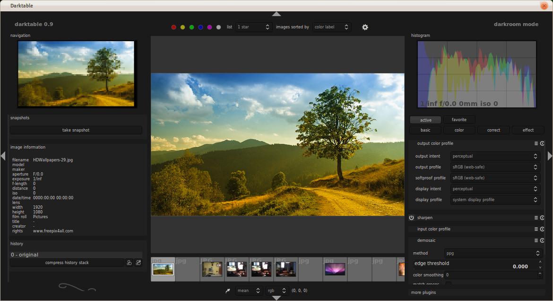 Darktable : Open Source/Free Adobe Lightroom for Ubuntu