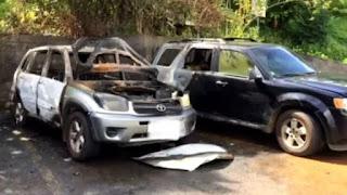Polynésie - Deux voitures brûlées devant la prison de Nuutania