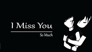 image of love couple with i miss you so much