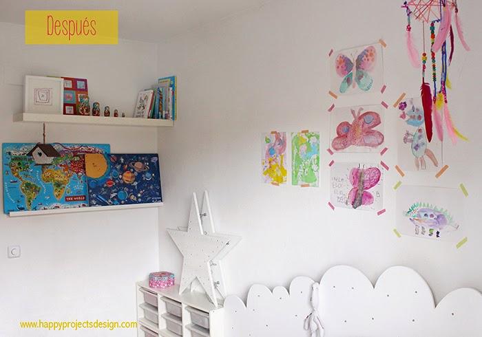 habitación para niñas DIY: dormir en una nube